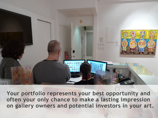 a professional portfolio represents your best opportunity to make a lasting impression