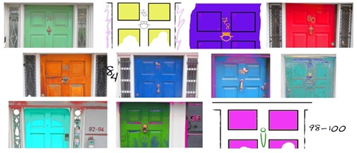 Jane Coco Cowles Doors of Mcdougal, 2013, Digital Print on Ultra Foam Board