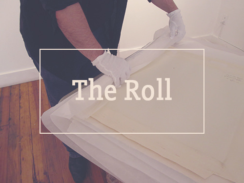 roll artworks for shipping