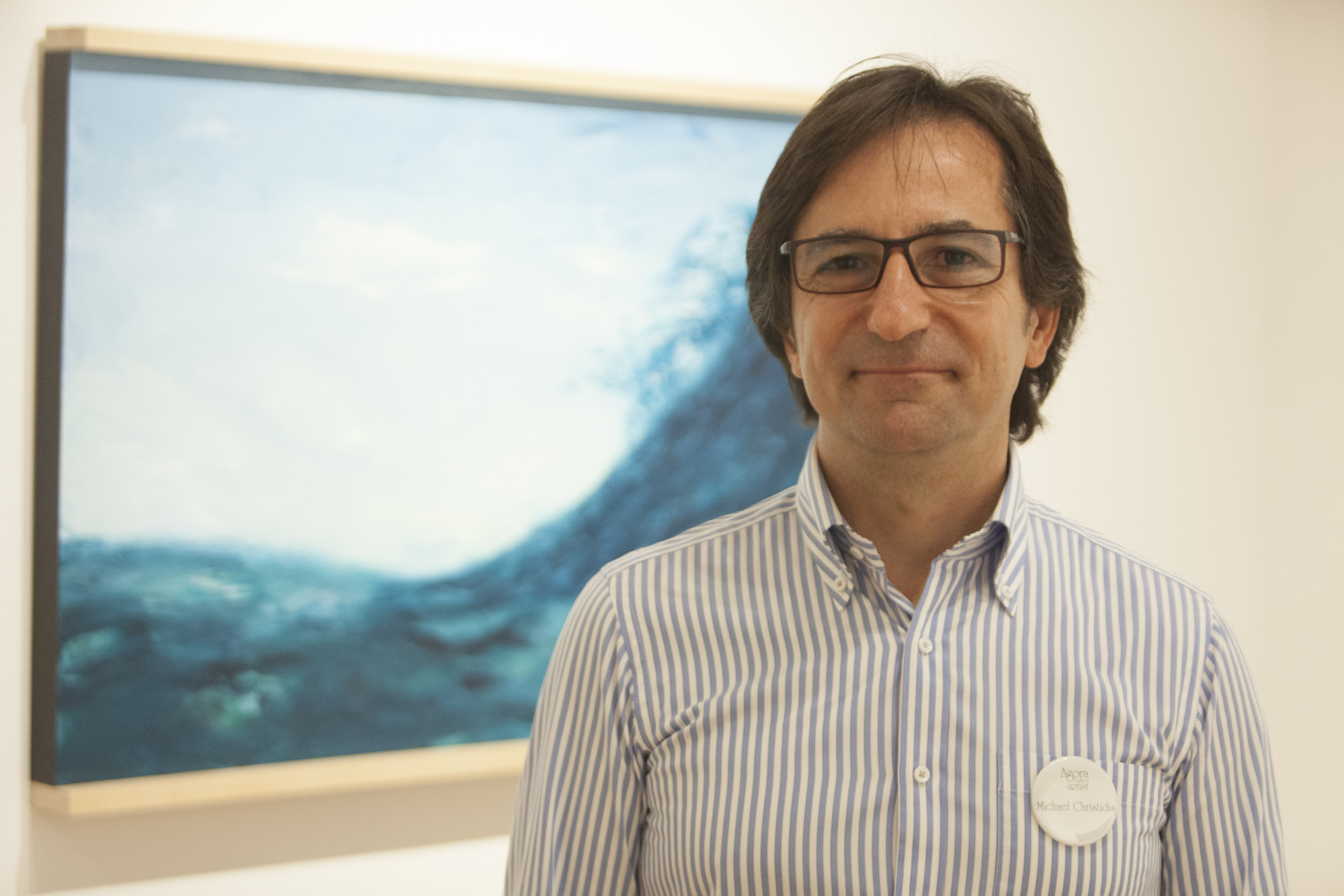 Michael Christidis at the August 27 Opening Reception