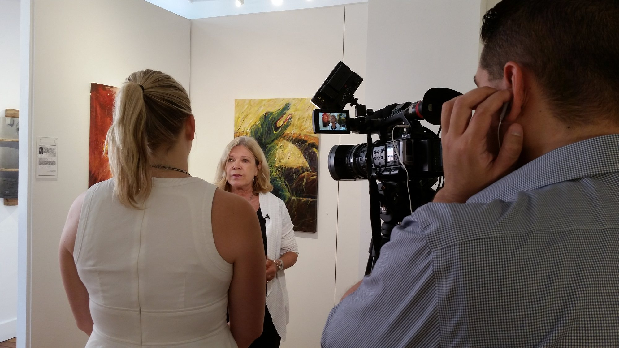 Gallery Director, Angela Di Bello, is interviewed by Sinovision Journal about Jian Jun An's artwork.