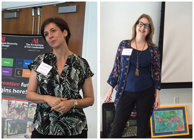ARTportunity speakers Adina Garcia (left) from the University of Miami and Christina Mayo from the Miami Herald newspaper (right)