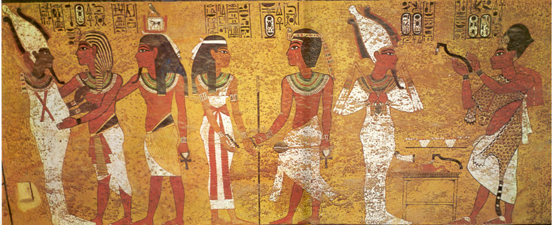 Paintings Inside King Tut S Tomb