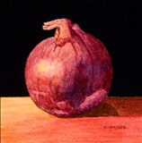 Still Life with Red Onion