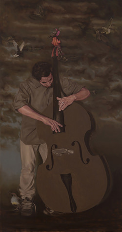 Domingo-Donoso,-Double-bass-player,-Paintings-54-x-28.jpg