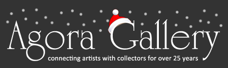 Agora Gallery logo on the Holiday newsletter
