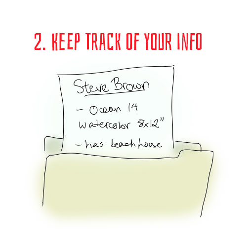 Step Two: Keep Track of Your Info