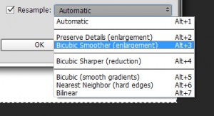 bicubic smoother enlargement