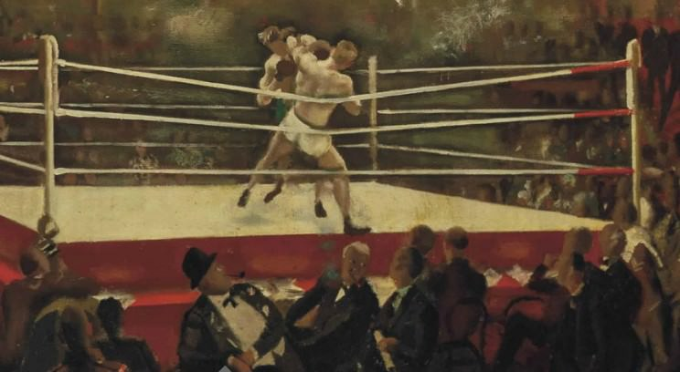 Detail, Alfred Reginald Thomson / London Amateur Championships (Oil painting) Image Source: Christies