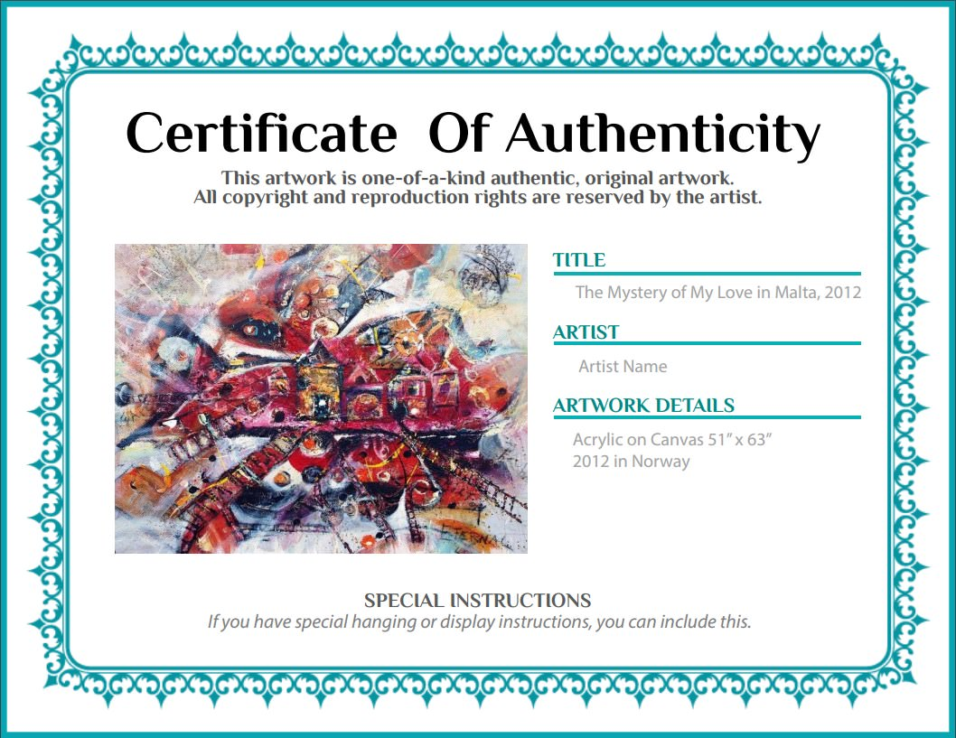 certificate of authenticity agora gallery advice blog