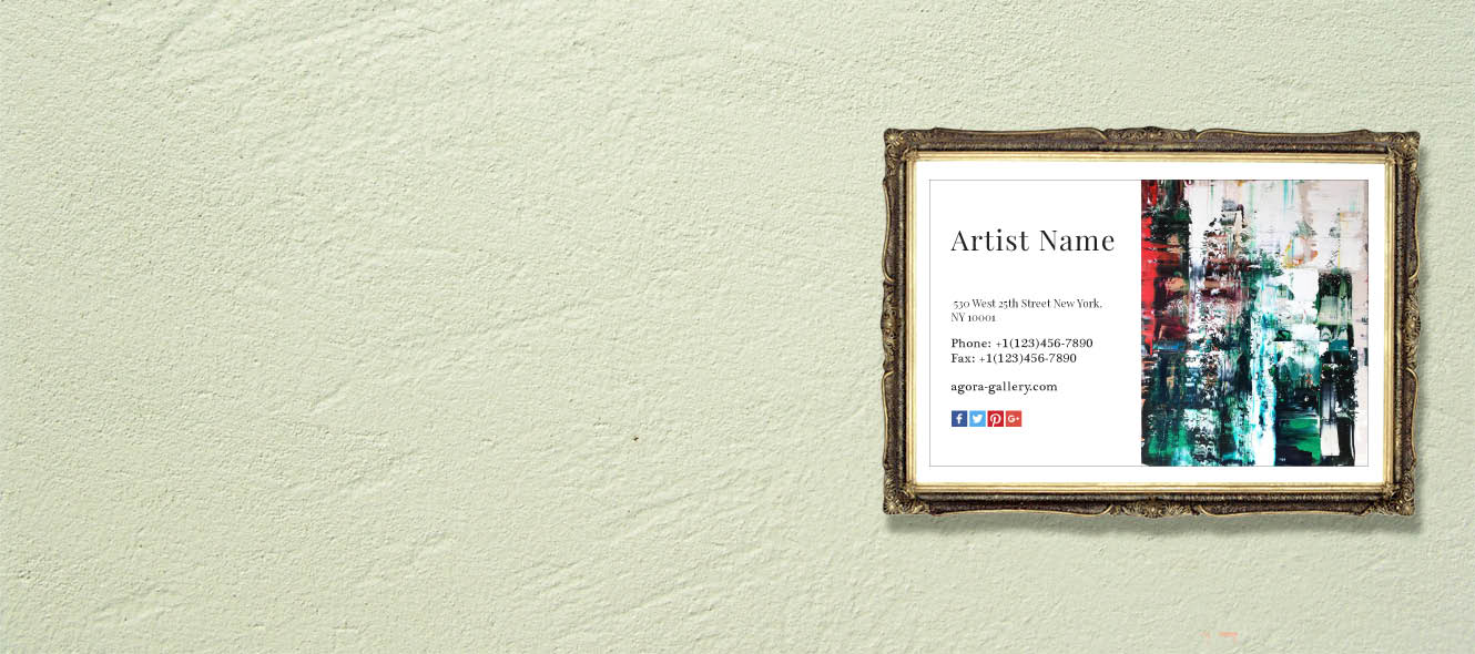 Artist Business Cards - Agora Advice Blog