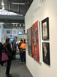 Agora Gallery's booth at Artexpo New York