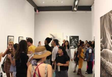 competition exhibition opening reception at Agora Gallery