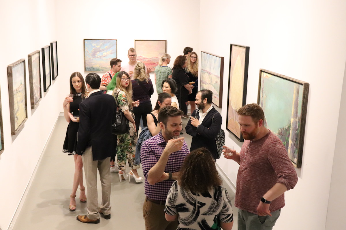 opening reception at Agora Gallery