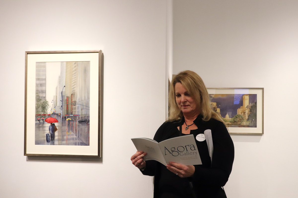 d22281db Agora artist Tammy Phillips during the opening reception at the gallery