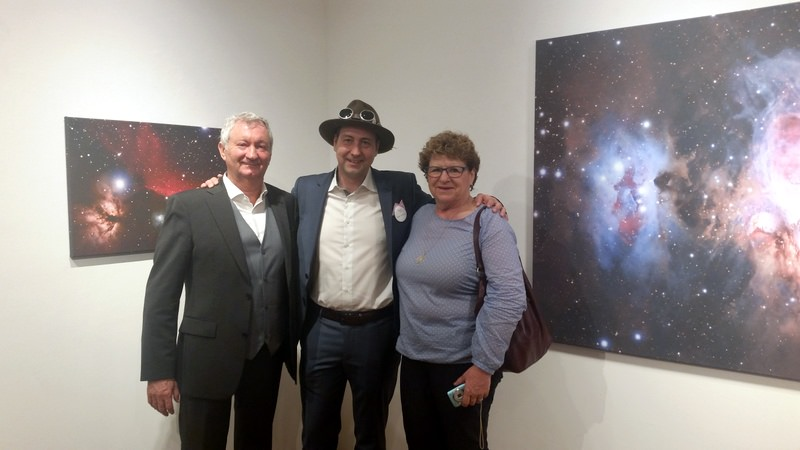 Artist Mark Hellweg with the people who started it all - his parents